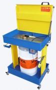 Fontaine dégraissage solvant électrique ou pneumatique - Pour fût de 20 à 60L. Surface de travail : 725 x 540 mm