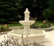 Fontaine jardin pierre