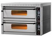 Four à pizza 2 chambres - Surface de cuisson en pierre réfractaire - Capacité : 2x4 Pizzas