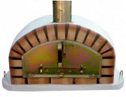Four à pizzas traditionnel couleur brique - Hauteur : 60 cm