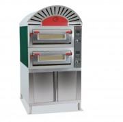 Four électrique à double chambre - Diamètre pizza 33 cm - capacité de 8 à 18 pizzas