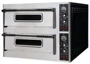 Four pizza professionnel 2 niveaux - 2 x 6 Pizzas - Dimensions 2 chambres 660 x 990 x 150