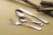 Fourchette à dessert 'Contour' en inox - Epaisseur: 25/10e - Poids: 0,04 kg - Inox 18/10