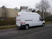 Fourgon nacelle sur camion - Hauteur de travail 10 m - Rotation 360 °
