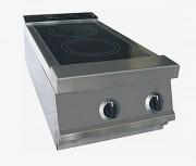 Fourneau professionnel infrarouge - Puissance totale: 5,4 ou 10,8 kW - 2 ou 4 foyers circulaires concentriques