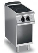 Fourneau vitrocéramique sur soubassement ouvert - Électrique - 2 plans de cuisson ∅ 220 mm (2 x 2,5 kW)