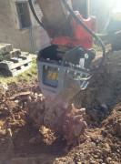 Fraise hydraulique pour pelle chantier 8/15 tonnes - Pression maxi 400 bars