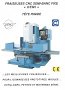 Fraiseuse CNC conversationnelle DF 46 CNC - Vitesse de broche : Variable de 60 à 6000 T/mn