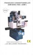 Fraiseuse conventionnelle semi-banc fixe DF 1-MA - Courses: 700*370*510 mm
