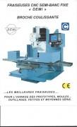 Fraiseuse de précision semi banc fixe DF4-CNC - Courses: 1300*500*750 mm