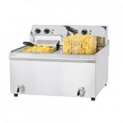 Friteuse 2 x 10 litres haut rendement - Puissance : 2 x 9 000 W / 400 V
