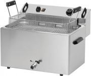 Friteuse électrique à beignets avec vidange - 16 / 20 L  - 540 x 450 x 370