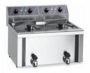 Friteuse électrique double cuve en Inox - Capacité (L) : 2 x 6 ou 2 x 8 ou 2 x 12