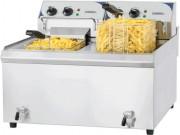 Friteuse professionnelle avec vidange - Puissance : 2 x 9 000 W / 400 V