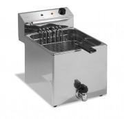 Friteuse professionnelle sans robinet - Thermostat réglable jusqu'à 190°C