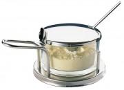 Fromagère en inox 18/10 et verre - Cuillère fournie - Poids net: 0,46 kg