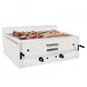 Grill à pierre de lave professionnel - Brûleurs : 2 - Débit calorifique : 17.5 - 26 KW