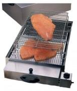 Fumoir professionnel 715 x 415 230 mm - Combustible : sciure - Grille de cuisson : 400 x 600 mm