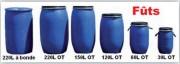 Fût en polyéthylène - Capacité en L : 30, 60, 120, 150 et 220