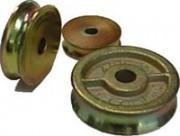 Galet fonte cordage - Diamètre extérieur : De 40 à 160 mm