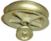 Galet fonte pour corde - Diamètre extérieur : 80 à 200 mm