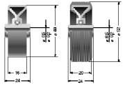 Galets de manutention - Vitesse de convoyage max. : 0,8 m/s