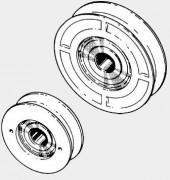 Galets pour des portes coulissantes d'ascenseur - Galets avec un roulement à billes intégré