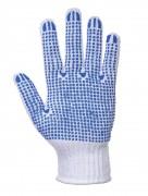 Gant de manutention tricoté - Matière : 65% polyester 35% coton, PVC