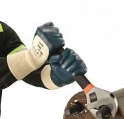 Gant manutention paume nitrile - Norme : EN 388 - Avec poignet tricot - Coton interlock