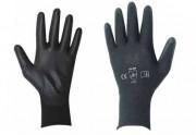 Gant polyuréthane noir Taille 6 à 11 - Taille : De 6 à 11
