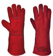 Gants soudure rouges (lot de 6) - Taille : 10 - Matière : Cuir bovin,coton