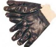 Gants enduits nitrile à poignets resserrés - Gants hautement résistant contre les produits chimiques