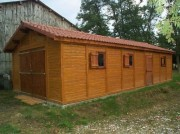 Garage atelier en beton aspect Bois - Abri auto