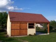 Garage avec auvent en béton - Abri auto