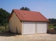 Garage double en béton - Abri auto