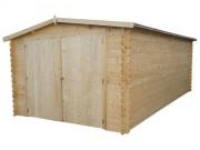 Garage en bois 14.85 m² - Dimension : 320 x 512 x 222 cm