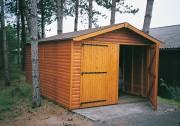 Garage en bois 4.03 à 6.03 mètres - 3 Longueurs : 4.03 m ou 5.03 m ou 6.03 m - Largeur : 3.03 m