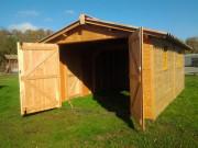 Garage en bois Largeur 3,03 mètres - Hauteur de passage : 1,95 m -  Largeur : 3,03 m