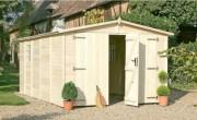 Garage en bois sapin du nord - Surface extérieure au sol (m²) : 14.85