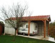 Garage grande hauteur en béton - Abri auto