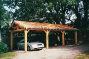 Garage lambris pour voiture - Dimensions (l x P) : de 5.00 x 3.00 à 6.00 x 9.00 m