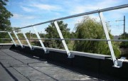 Garde corps acier galvanisé - Sécurisation des terrasses ou plates formes techniques inaccessibles au public.