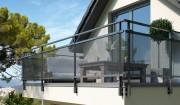 Garde corps aluminium anodisé - La structure du produit en aluminium anodisé garantie une absence total de corrosion à vie et cela sans entretien ni peinture de protection.