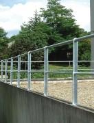 Garde corps aluminium pour terrasse - 2 lisses