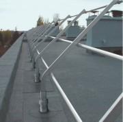 Garde-corps barrial sabot D - En aluminium - Conforme à : NF E 85- 015 et Européenne NF EN ISO 14122-3