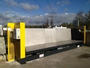 Garde corps déchetterie - Barriere anti chutes, Systeme pour vidage Gravats Haut de quai