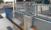 Garde corps déchetterie à trémie - Conforme aux normes en vigueur