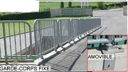 Garde corps industriel pour déchetterie - Fixe ou amovible