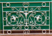 Garde corps pour tableaux en métal - Avec motifs en fonte