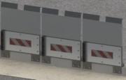 Garde corps supérieur à renforts pour déchetteries - Solution idéale pour tous les déchets